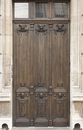 door wood wooden ornate single