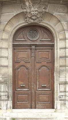 door wood wooden ornate double face sculpture arch