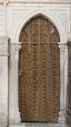 door wood wooden ornate