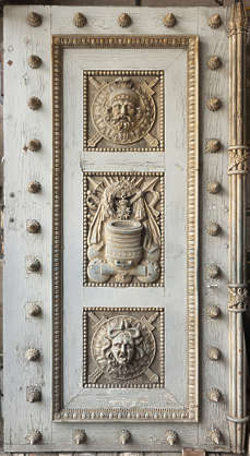 door ornate relief wooden