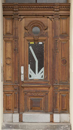 door single ornate wooden