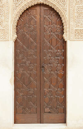 moorish ornament islamic palace arab arabian arabic arch doorwood ornate