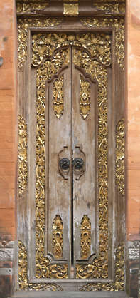 asia china oriental ornament door glided big