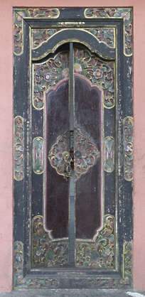 asia china oriental ornament doors wooden double