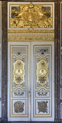 ornate ornament door double gold gilded