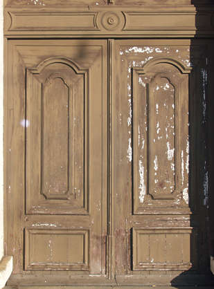wood door painted panel panelled