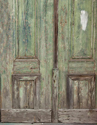 wood door painted old panel panelled