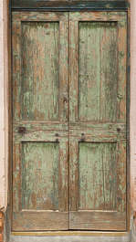 venice italy door wooden old double painted weathered old