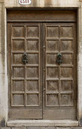 venice italy door wooden double panelled panels