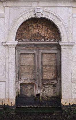 venice italy door double old weathered arch ornate round