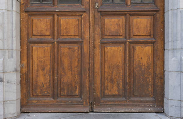 door old ornate panelled panel wood
