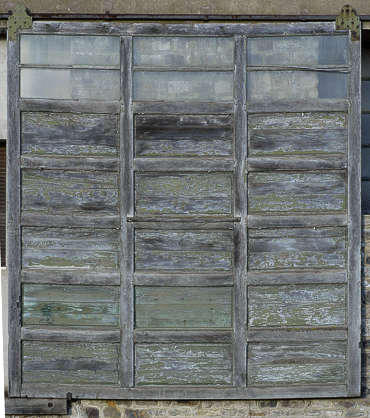 door garage wood old panel panelled