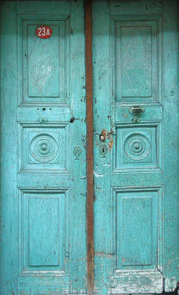 door house old painted wood panel panelled