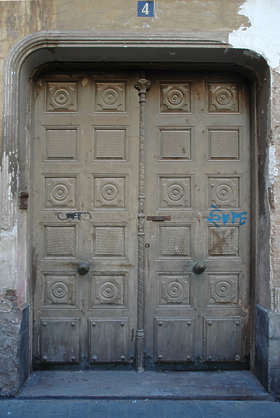 door medieval old wood panel panelled