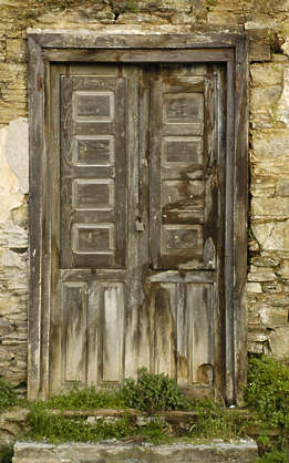 door wood old panel panelled