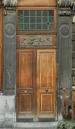 door old wood house panel panelled