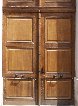 door wood panel panelled