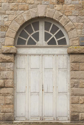 door wood double arch