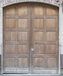 door wood panelled panels garage double