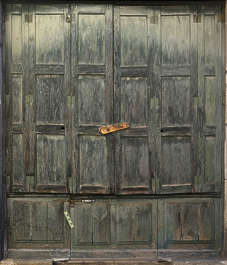 door wood planks painted old panel panelled
