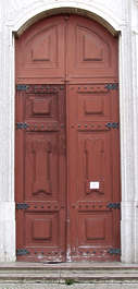 door ornament wood panel panelled