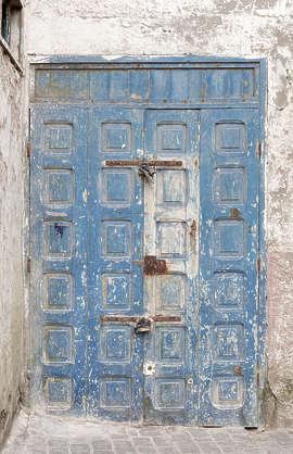 morocco door wood double medieval panelled old