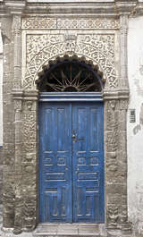 morocco door wood double ornate panelled arch ornate medieval old ornament