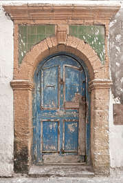 morocco door wood ornate arch medieval panelled