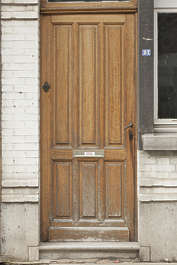 door single wood wooden panels