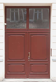 door double wooden new painted panelled