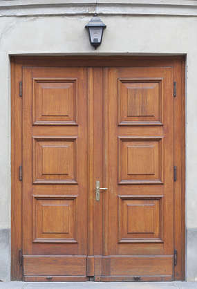 door wooden panelled double