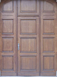 door wooden panelled single