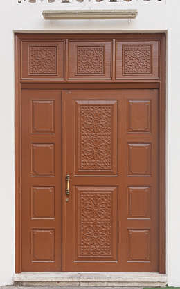 saudi arabia dubai middle east door panelled wooden clean new wood