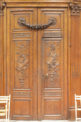 france door double wooden ornate panelled