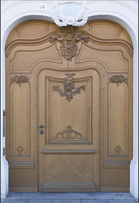 door single ornate panelled wooden germany