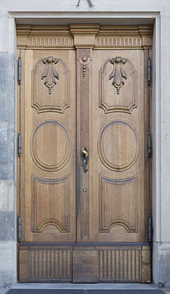 door double ornate panelled wooden germany