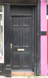 door single wooden paneled UK