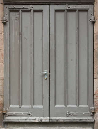 door double panelled painted UK