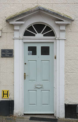 door single wooden residential house panelled UK