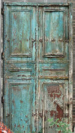door metal old paint panel panelled