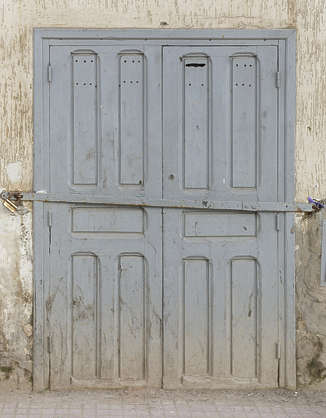 morocco door wood painted double
