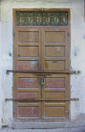 morocco door wood panels panel panelled painted double