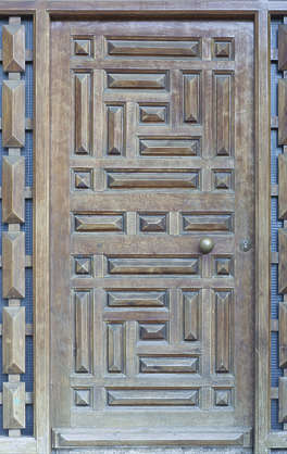 morocco door wood panels panel panelled ornate single