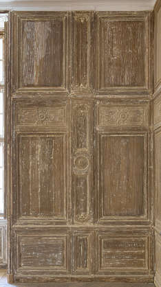 door wood panel old medieval worn panelling