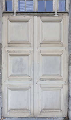 door woooden double old panel panelled