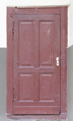 door single wooden panelled