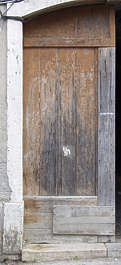 door wood planks painted old single