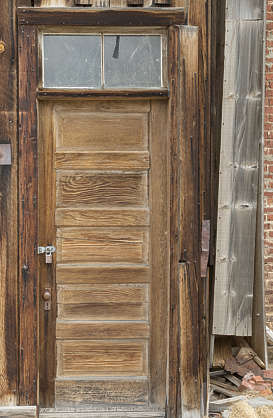 USA Bodie ghosttown ghost town old western goldrush desert arid door wooden single bodie_014