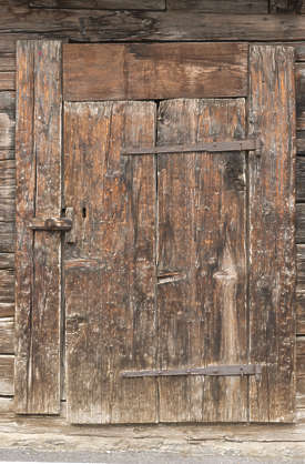 door wood old worn planks medieval barn