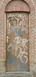 door graffiti single old